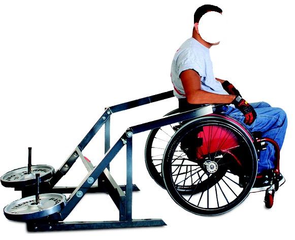 А-150i Жим вниз для инвалидов-колясочников (свободный вес)