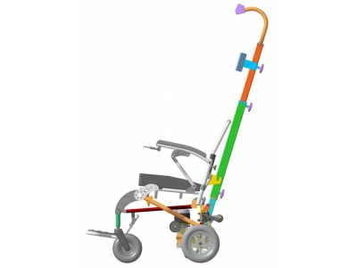 ЛАМА электрическое кресло-коляска с интегрированным лестничным подъёмником
