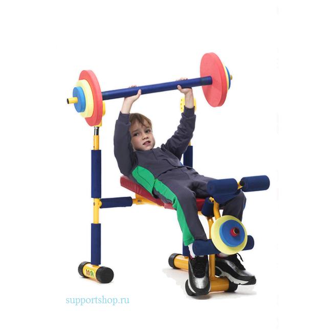 Детский тренажер скамья для жима JD03