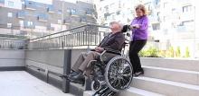 Подъемники для инвалидов наклонного перемещения - гусеничный подъемник K.S.P. Sherpa N 902