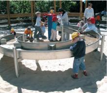 Стол из нержавейки для игр с песком и водой