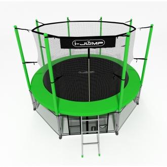 Батут I-Jump 8FT Green
