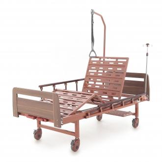 Кровать механическая Мед-Мос Е-8 (MM-2024Н-00) (2 функции) ЛДСП с полкой и обеденным столиком