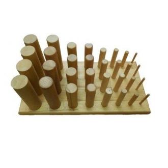 Тренажер для развития силы и подвижности пальцев рук и кисти (32 колышка)