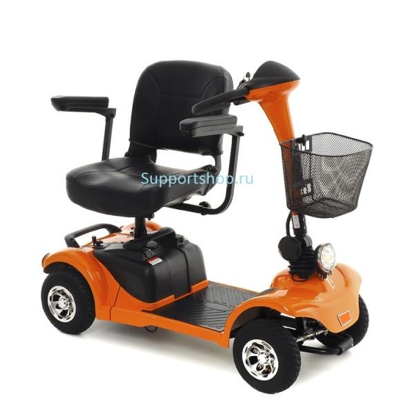 Кресло-коляска скутер с электроприводом Explorer MT-14 (скутер Explorer) цвет оранжевый