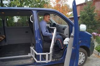 Подъемник для инвалидов в автобус. Крепление в салоне