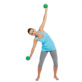 Мяч утяжеленный HEAVYMED 500гр, диам. 10 см, зеленый