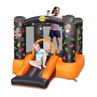 Детский надувной Батут HAPPY HOP с горкой «Рок-н-ролл» 8003