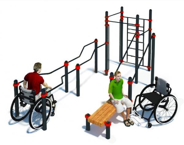 Комплекс для инвалидов-колясочников TRANING W-7.03