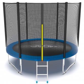 Батут с внутренней сеткой и лестницей EVO JUMP External 10ft (Blue)