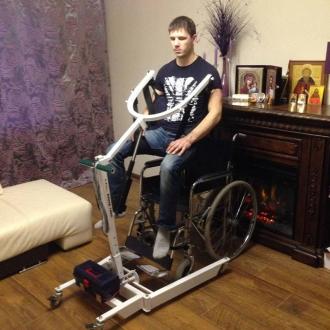 Передвижной подъемник для инвалидов с электроприводом SAVVA TPS-2