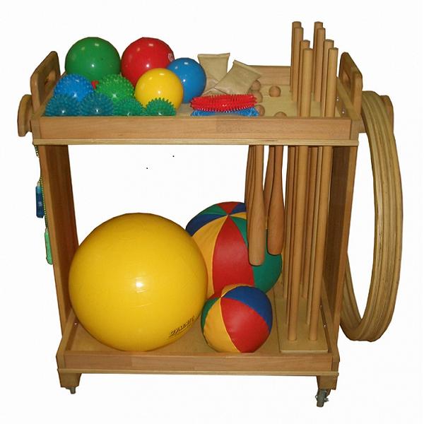 Тележка с гимнастическими снарядами (комплектация для детей)