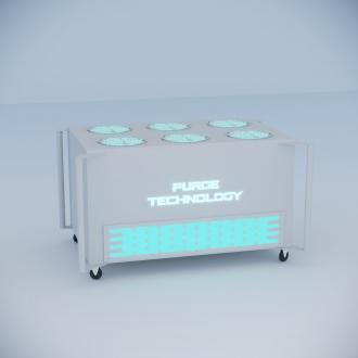 Промышленный рециркулятор PТ-017 Тайфун (Белый, Черный)