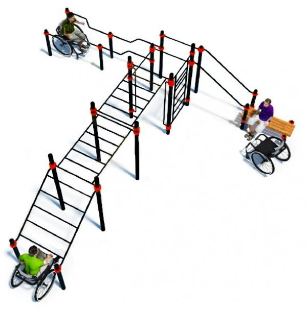 Комплекс для инвалидов-колясочников ADVANCED W-7.08