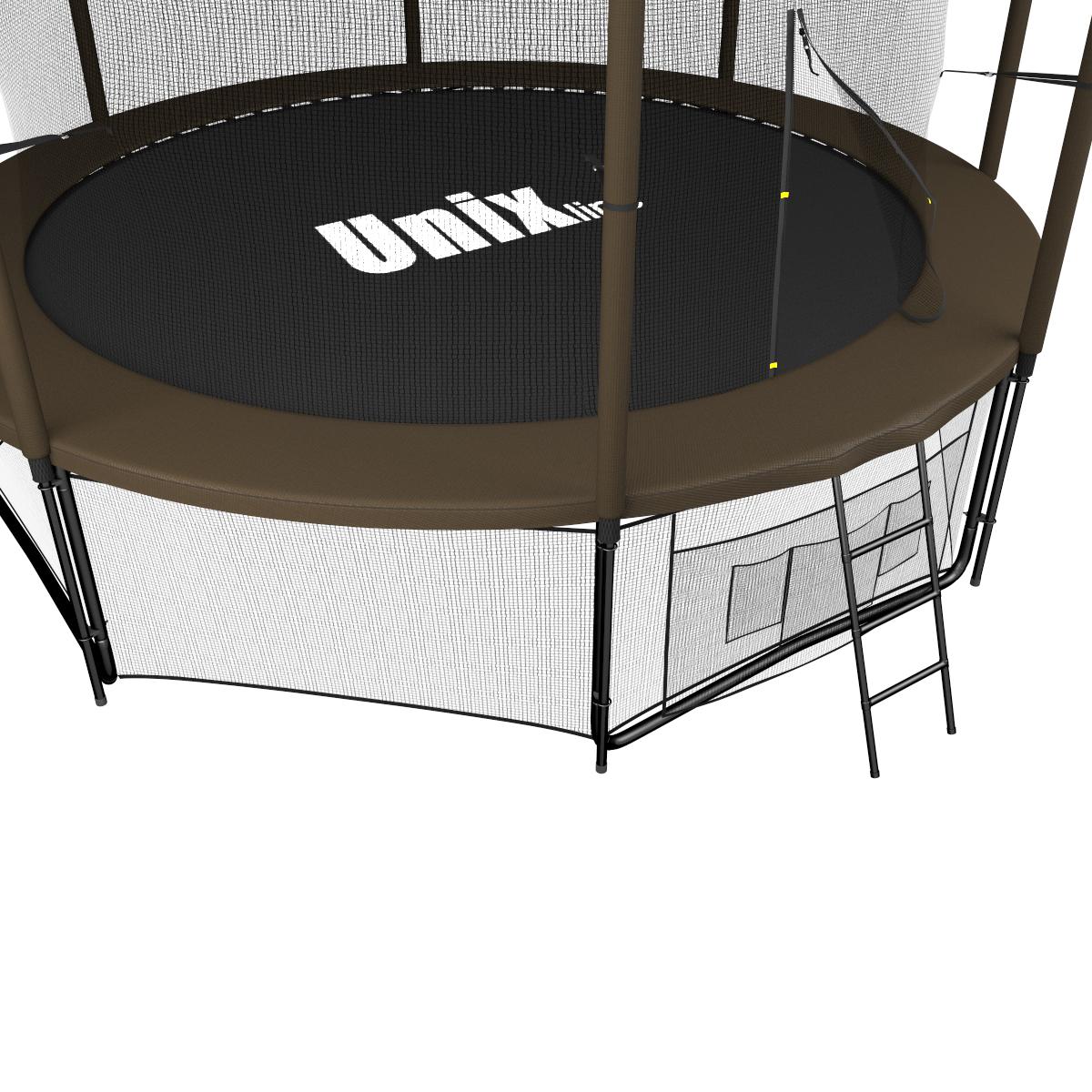 Батут UNIX line Black&Brown 12 ft (inside)