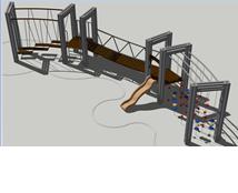 Конструкция для лазания Крымский мост