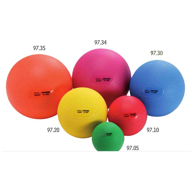 Мяч утяжеленный HEAVYMED 3 кг, диам. 17 см, синий