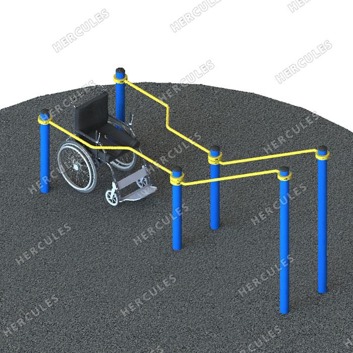Брусья в подъем для инвалидов в кресло-колясках W-8.03