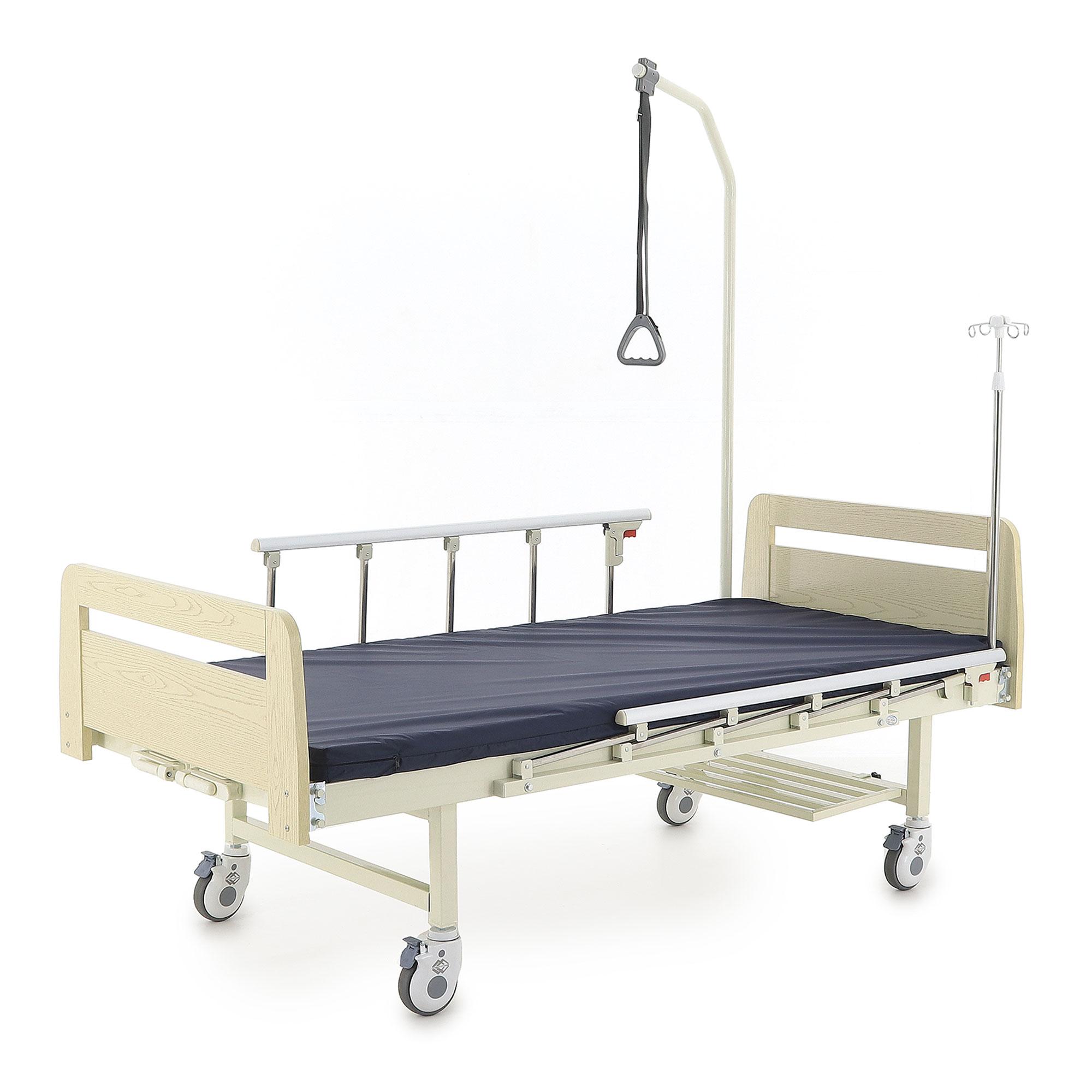 Медицинские кровати с механическим приводом Med-Mos Е-8 (MМ-2024Д-00) ЛДСП (2 функции)