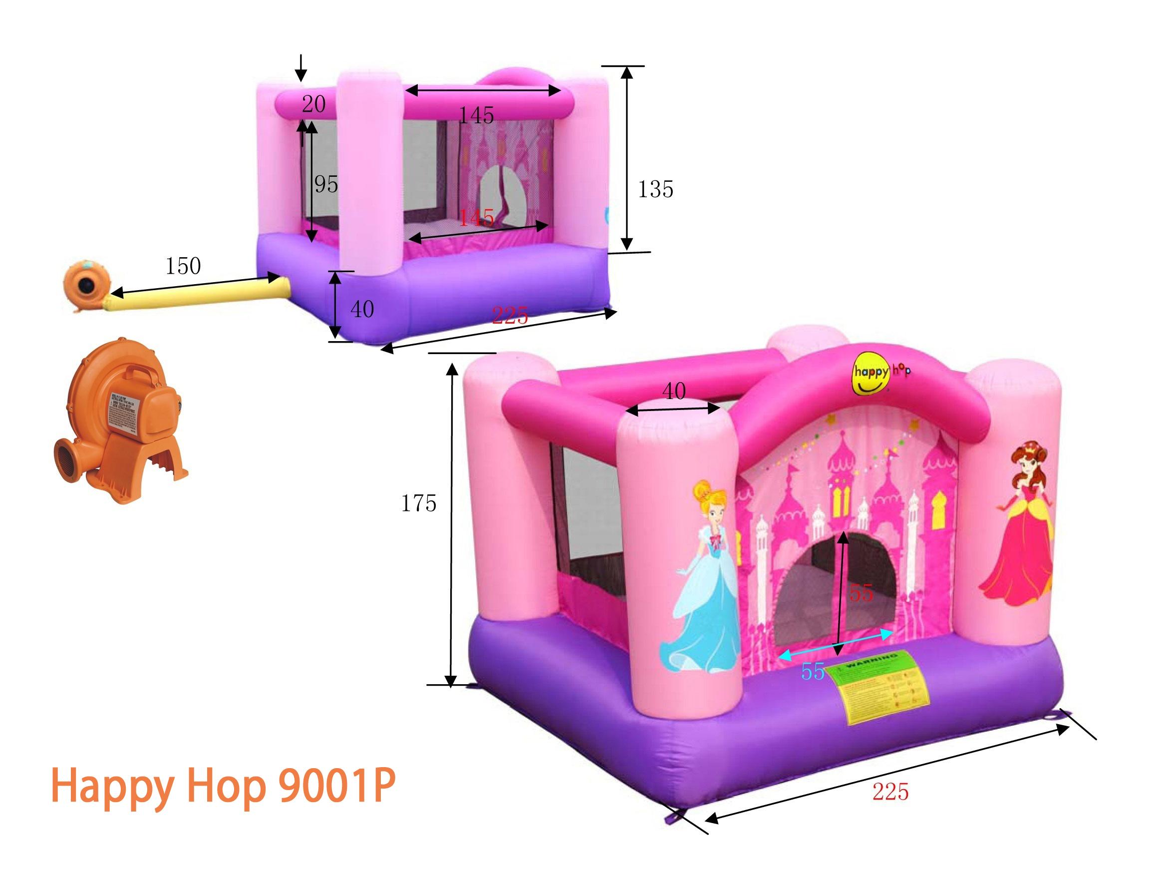 Детский надувной Батут Веселая Принцесса HAPPY HOP 9001P