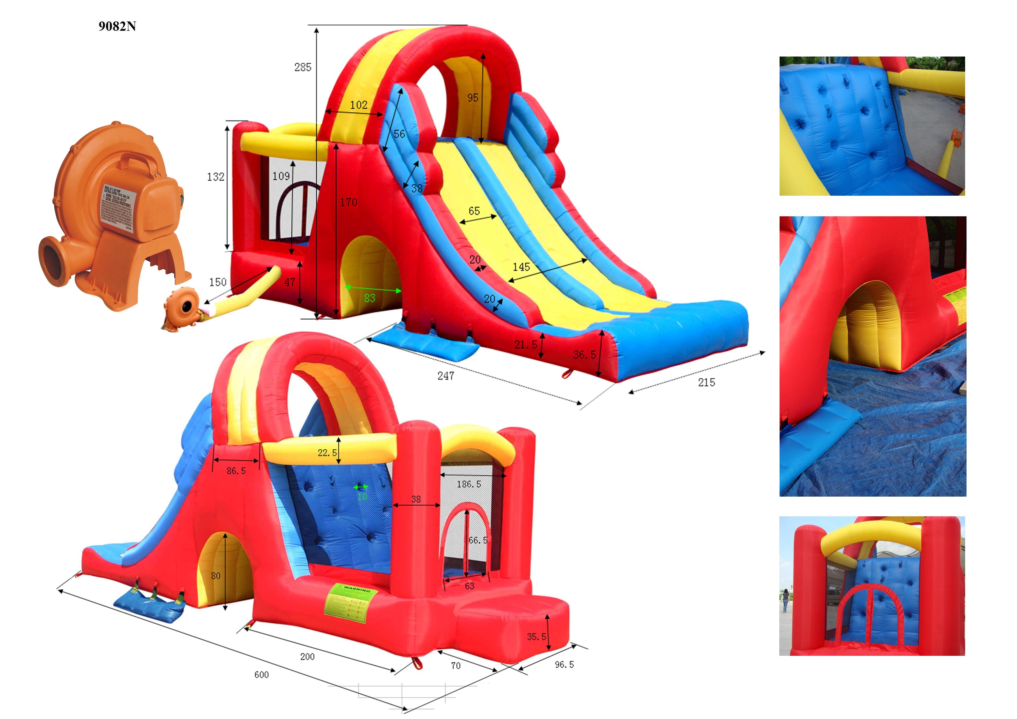 Детский надувной Игровой Центр Мега-горка арт. HAPPY HOP 9082N