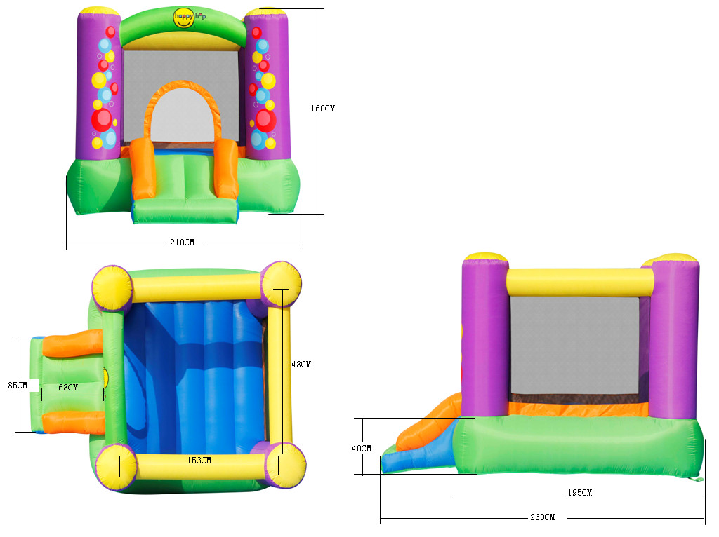 Детский надувной Батут с горкой «Игра» HAPPY HOP 9201B