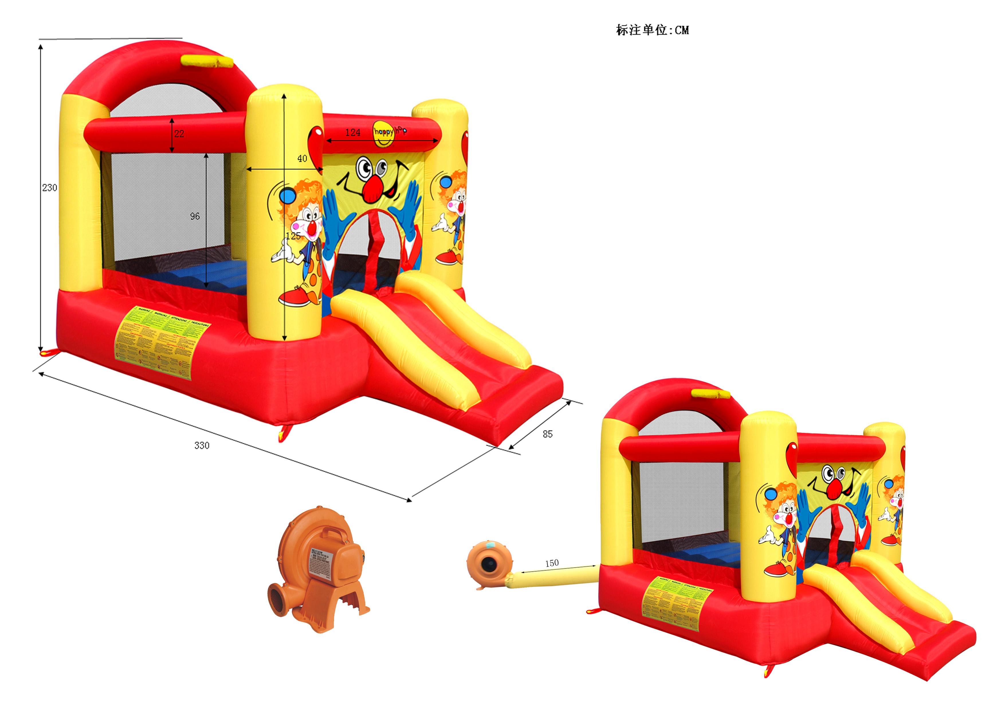 Детский надувной Батут Смешной клоун с горкой HAPPY HOP 9304Y