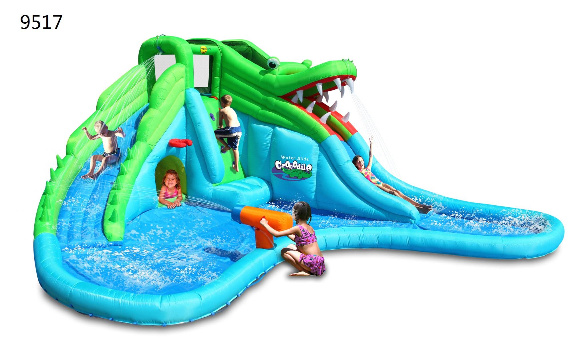 Надувная водная горка HAPPY HOP «Крокодил» 9517