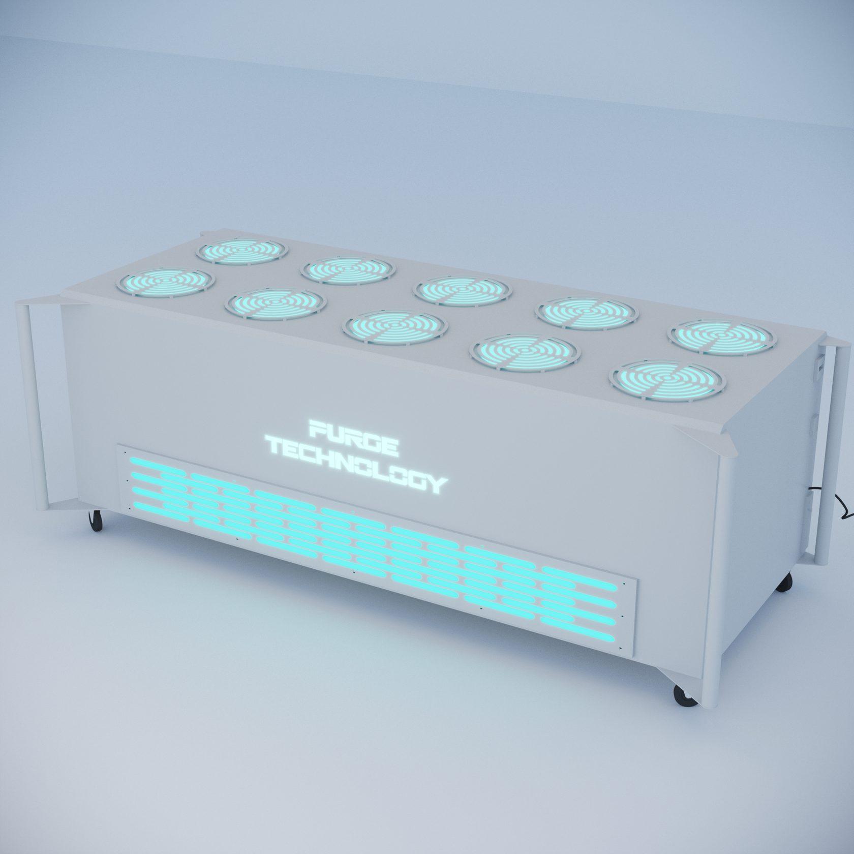 Промышленный рециркулятор PТ-018 Ураган (Белый, Черный)