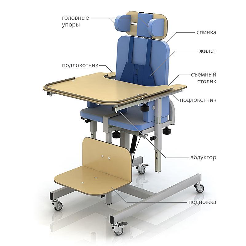 Ортопедический функциональный стул CH-37.01.03 для детей-инвалидов