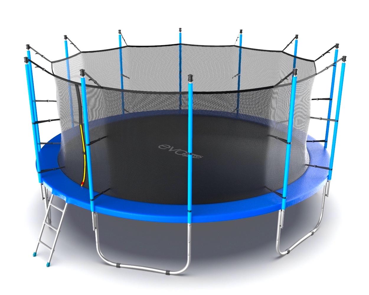 Батут с внутренней сеткой и лестницей EVO JUMP Internal 16ft (Blue)