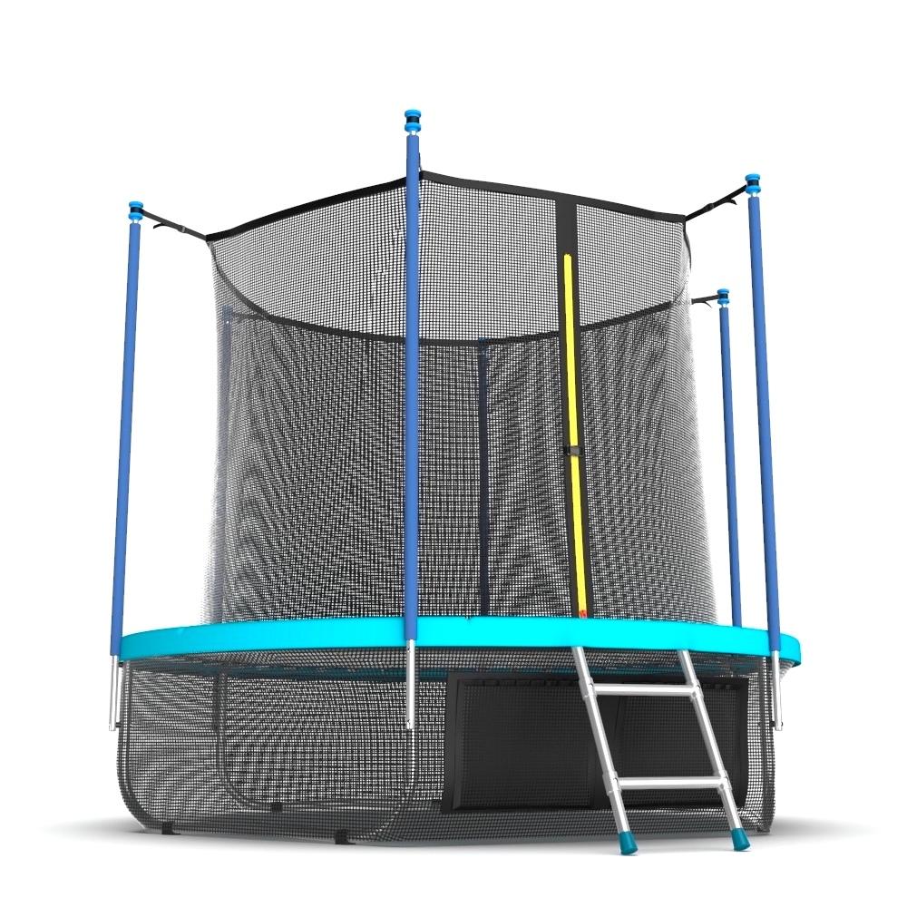 Батут с внутренней сеткой и лестницей EVO JUMP Internal 12ft (Wave)