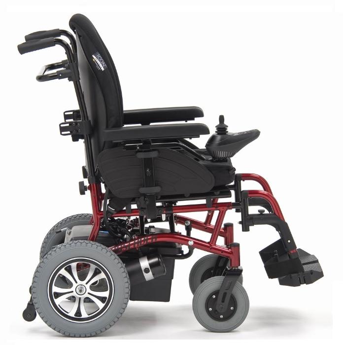 Кресло-коляска с электроприводом Observer, (Модуляр) красная рама