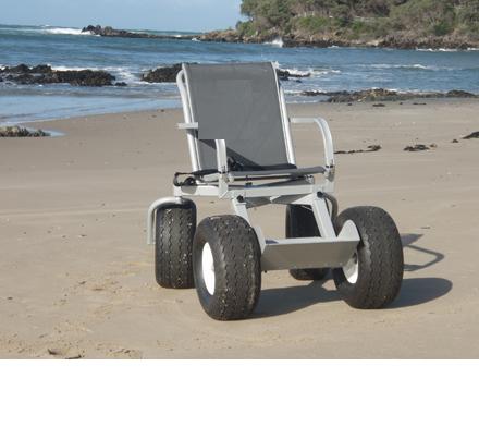 Кресло-коляска повышенной проходимости с колесами высокого давления