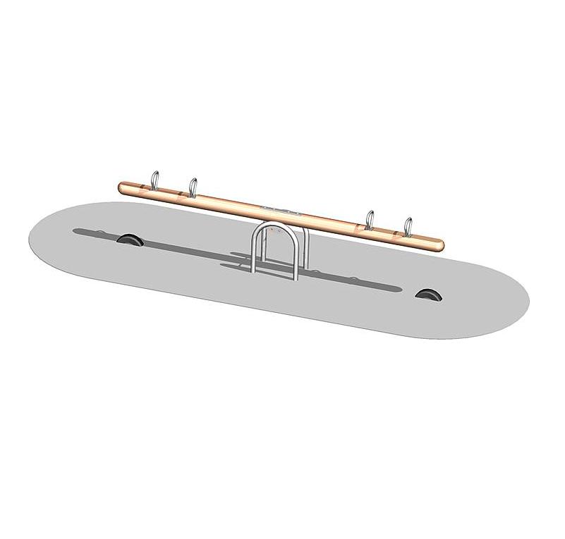 Балансир четырехместный на стальной опоре