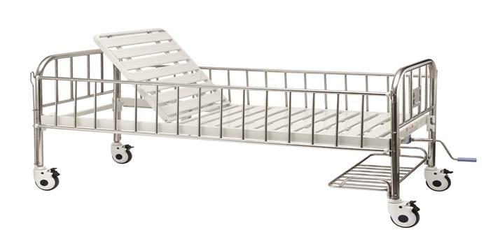 Кровать детская медицинская с подголовником B-35
