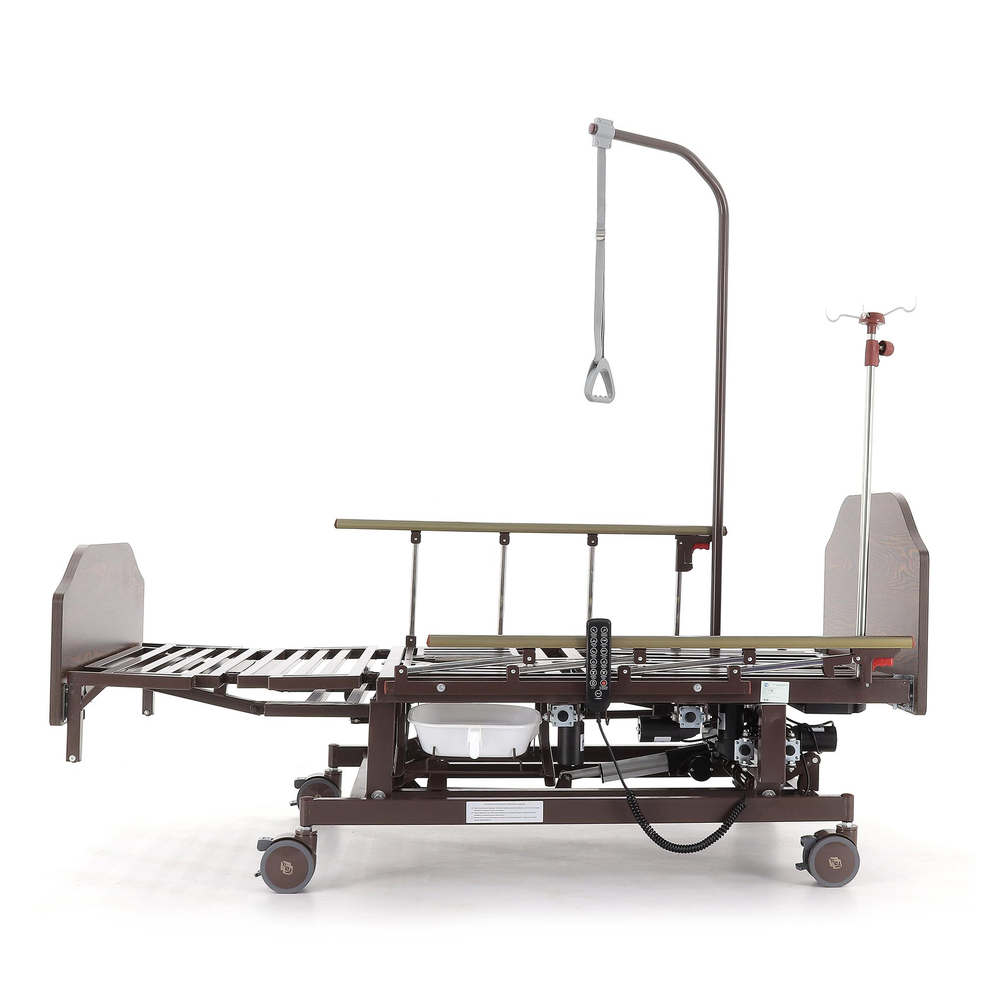 Кровать электрическая Med-Mos DB-11А (МЕ-5228Н-12) с боковым переворачиванием, туалетным устройством и функцией «кардиокресло»