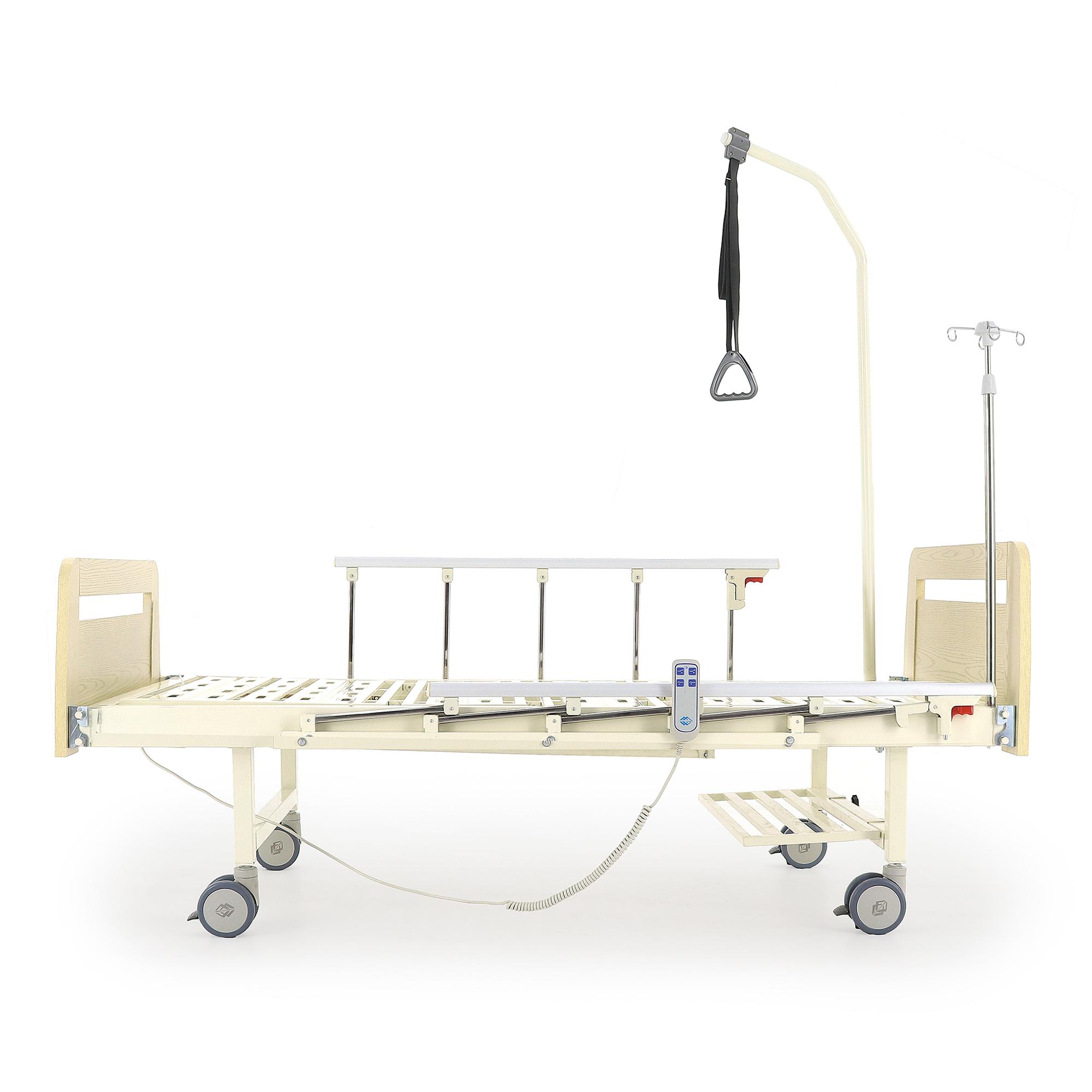 Кровать электрическая Мед-Мос DB-7 (МЕ-2028Д-00) (2 функции) светлое дерево