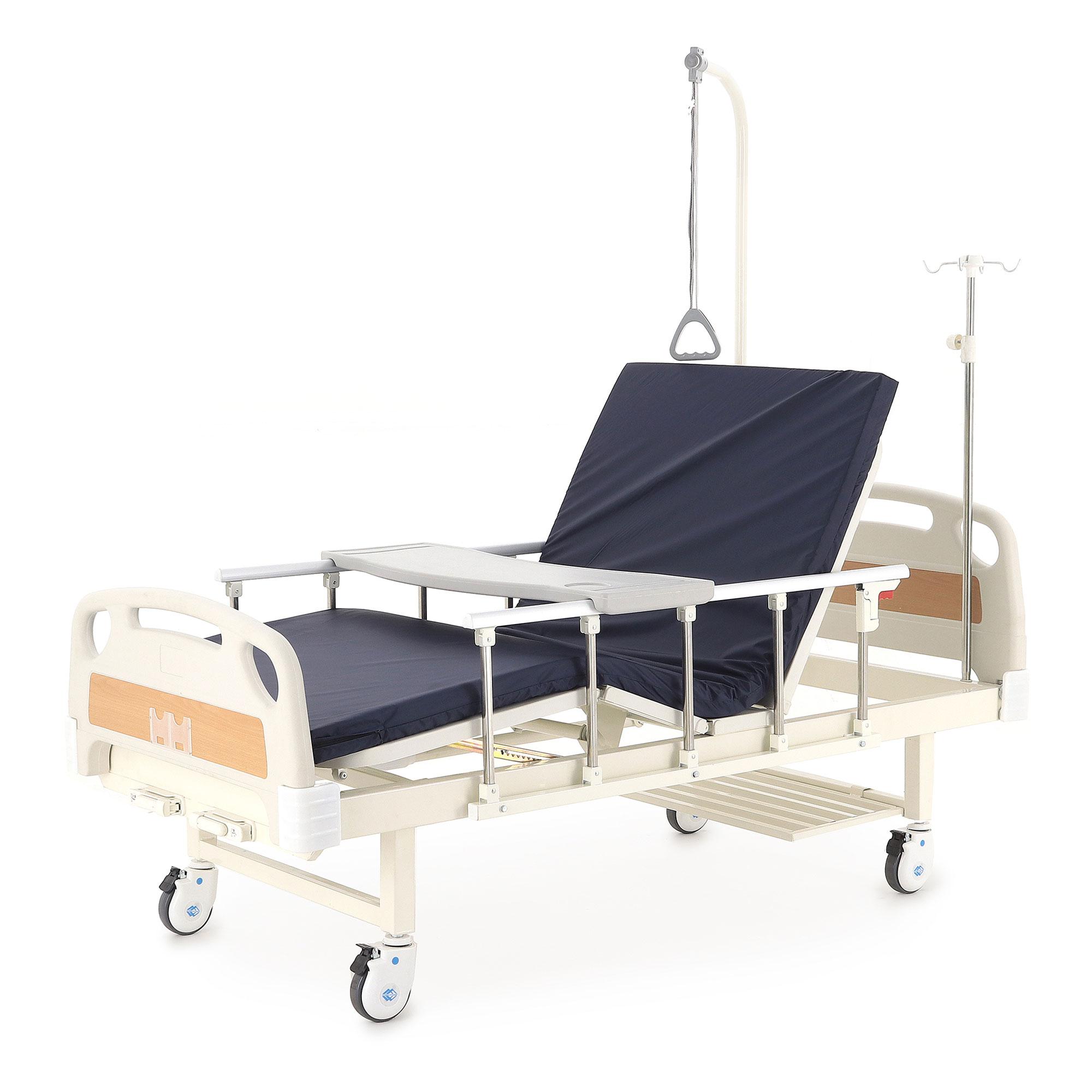 Кровать механическая Мед-Мос Е-8 (MM-2014Н-02) (2 функции) с полкой и столиком