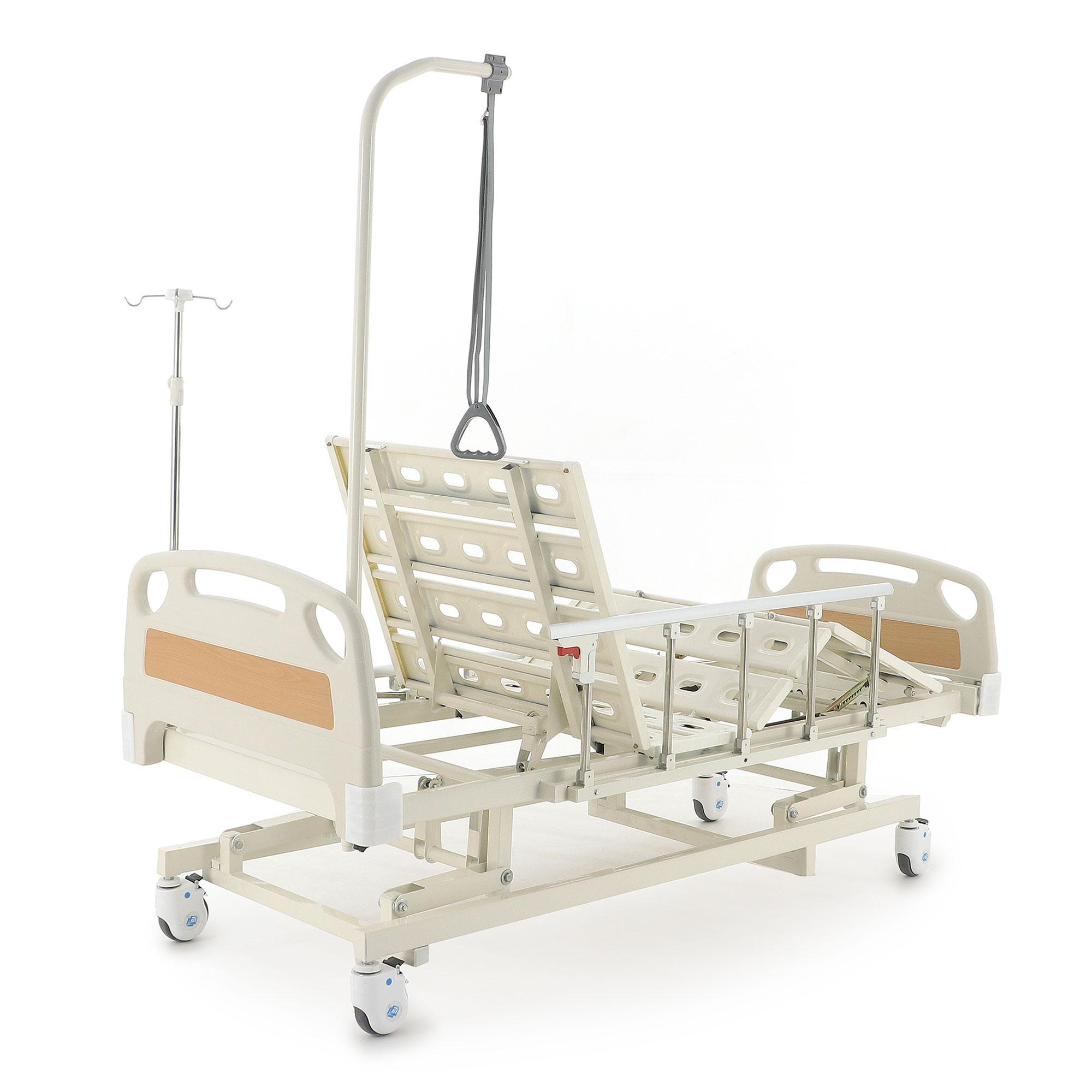 Кровать механическая Med-Mos E-31 (ММ-3014Н-00) (3 функции) с ростоматом и полкой