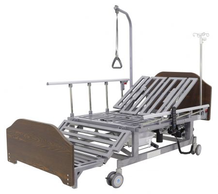 Кровать электрическая с боковым переворачиванием, туалетом, «кардиокреслом» Мед-Мос DB-11А (МЕ-5228Н-00)
