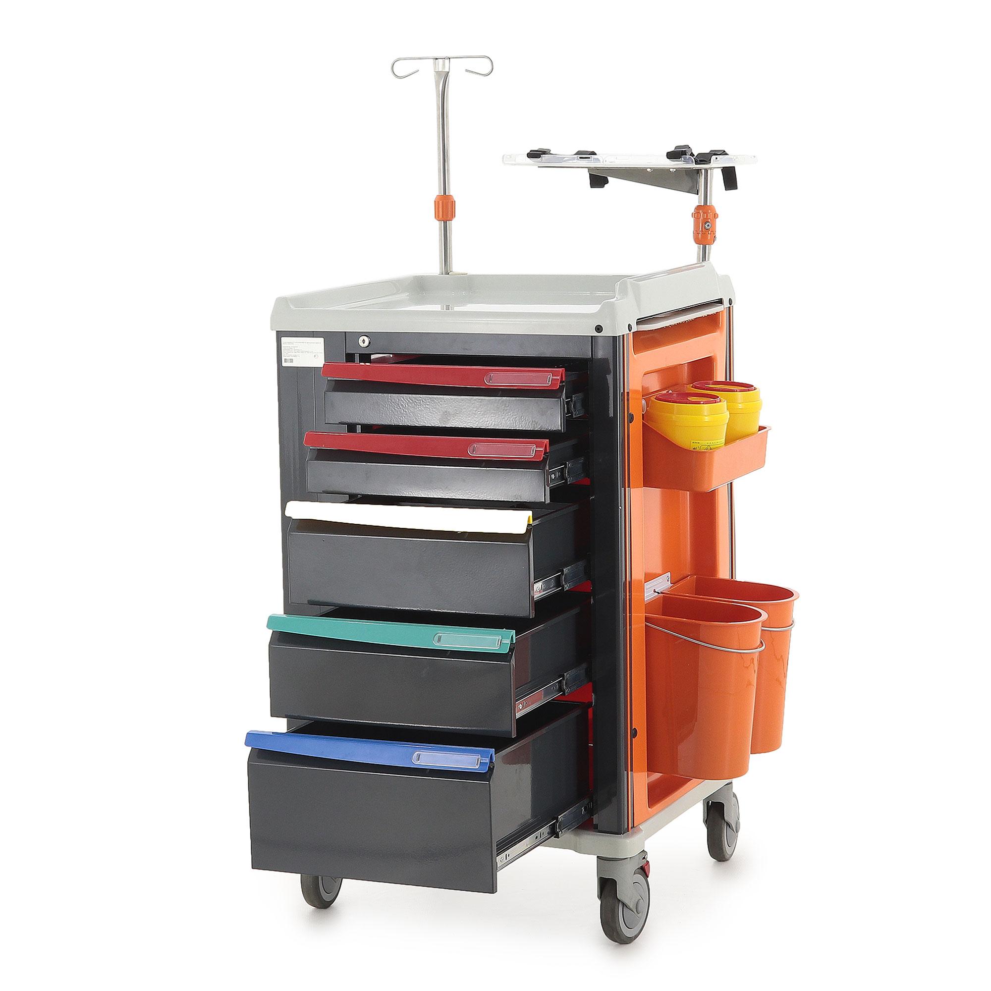 Столик реанимационный, анестезиологический Med-Mos PET02 (ТМ-006АН-00)