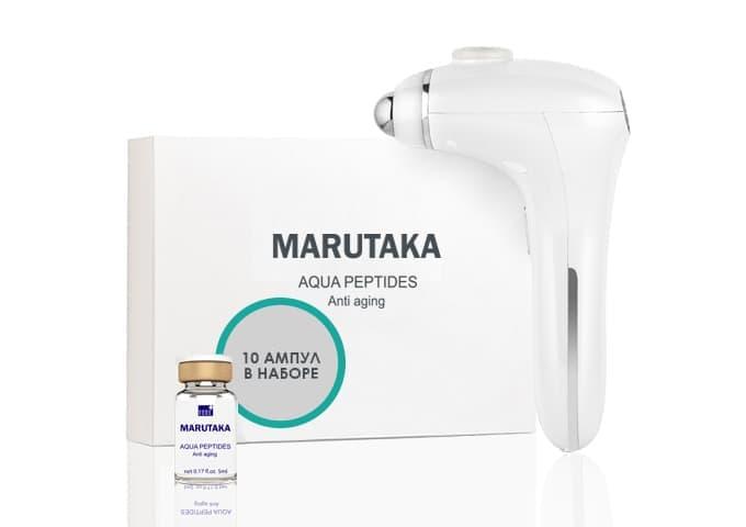 Аппарат LE - порации MARUTAKA LE 4 в 1 + набор ампул Aqua Peptides (10 шт.)