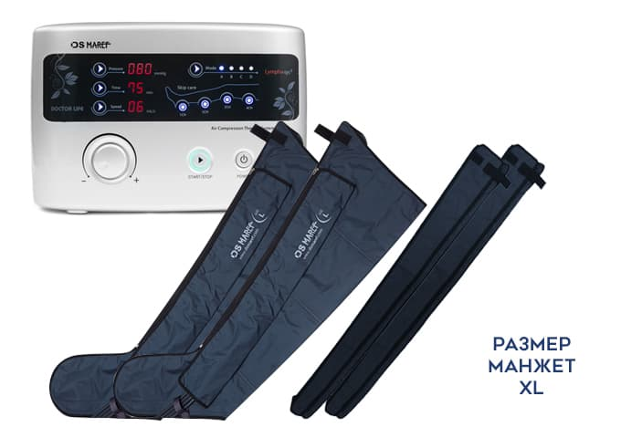 Аппарат для лимфодренажа Premium Medical LX9 (Lympha-sys9), манжеты для ног XXL, расширители для ног