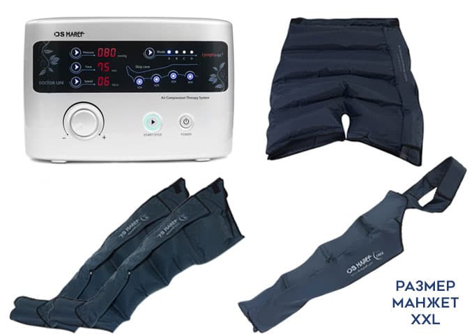 Аппарат для прессотерапии Premium Medical LX9 (Lympha-sys9), манжеты на ноги (XXL), шорты для похудения и манжета на руку