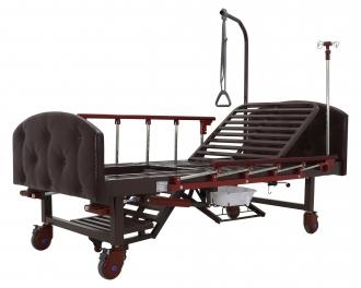Кровать механическая с туалетным устройством и функцией «кардиокресло» Med-Mos YG-6 (MM-2124Н-11)