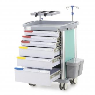 Столик реанимационный, анестезиологический Med-Mos РЕТ05 (ТМ-008АН-00)