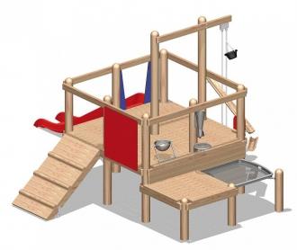 Детская площадка для игр с песком