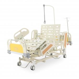 Кровать реанимационная электрическая Med-Mos DB-3 (5 функций) (МЕ-4019Н-00) с выдвижным ложементом и ростоматом CPR+аккумулятор с ростоматом