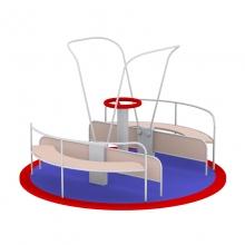 Карусель для инвалидов-колясочников (из нержавеющей стали)